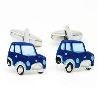 Blue Car Cufflinks The Cufflink Club