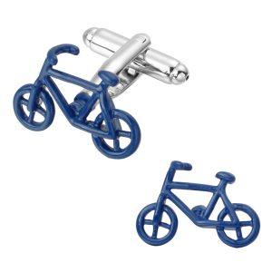 Blue Bike Cufflinks The Cufflink Club