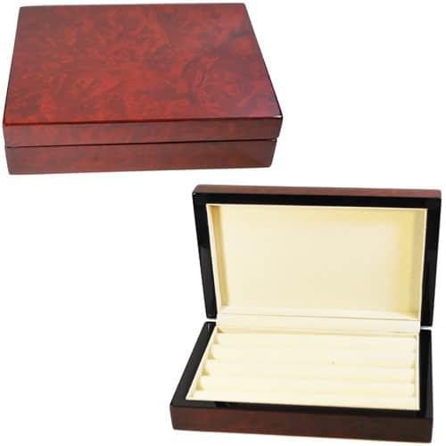 Wooden Grain Cufflink Storage Box