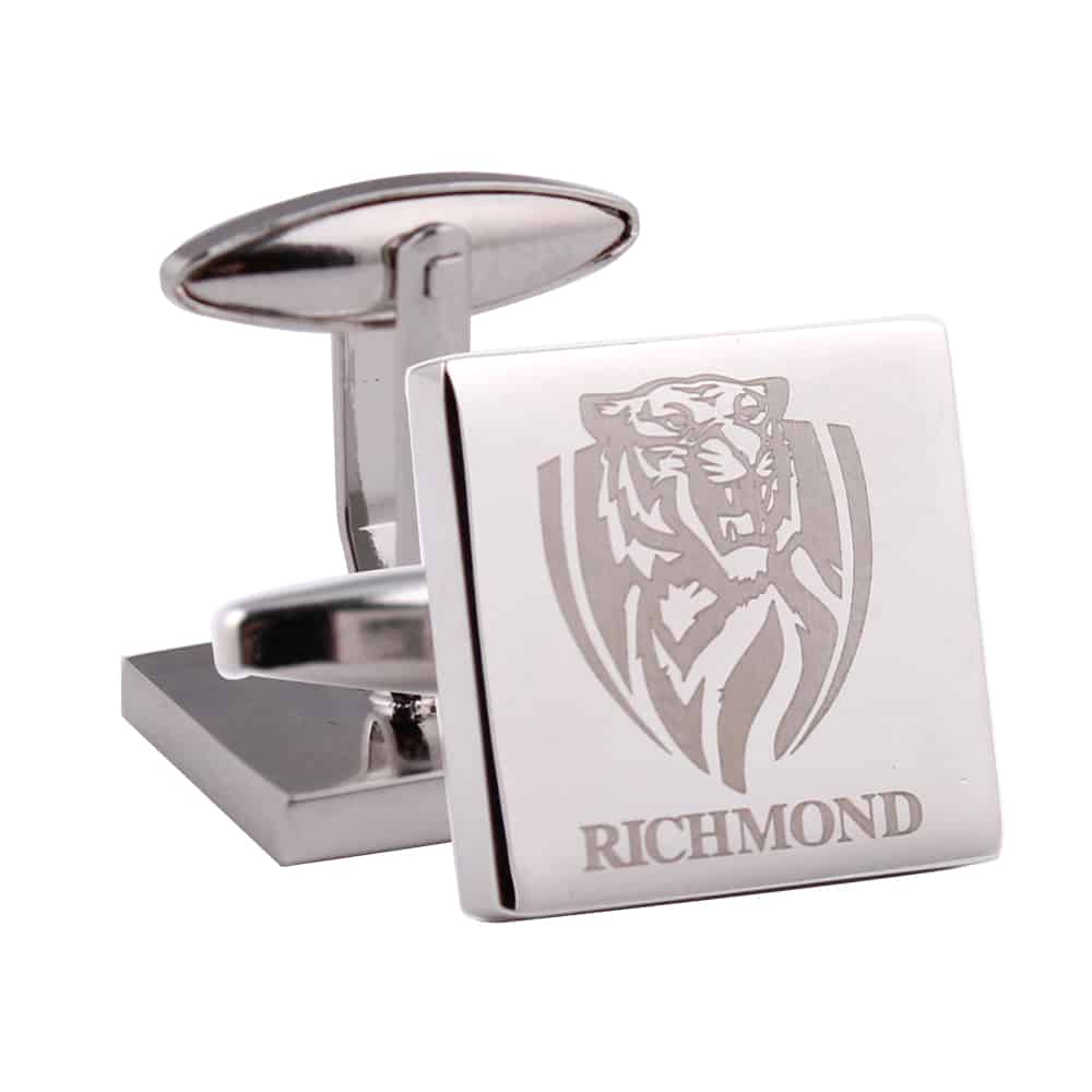 Richmond Silver Square Official AFL Cufflinks