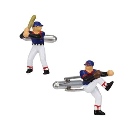 Baseball Player Cufflinks