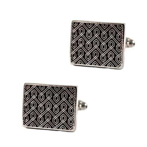 Black Pattern Cufflinks