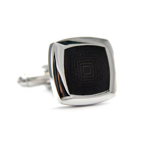 Black Square Cufflinks