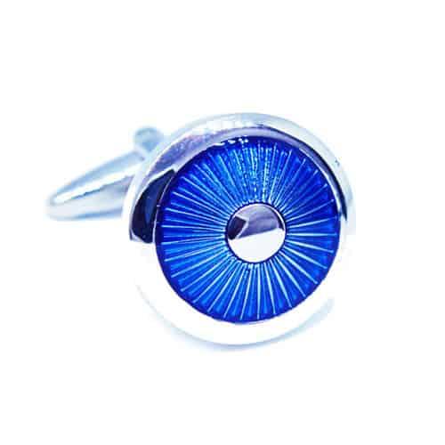 Blue Circle Cufflinks