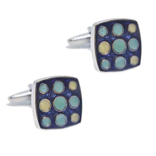 Blue Dotted Cufflinks