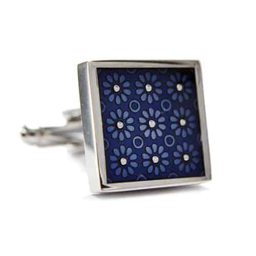Blue Flower Pattern Cufflinks