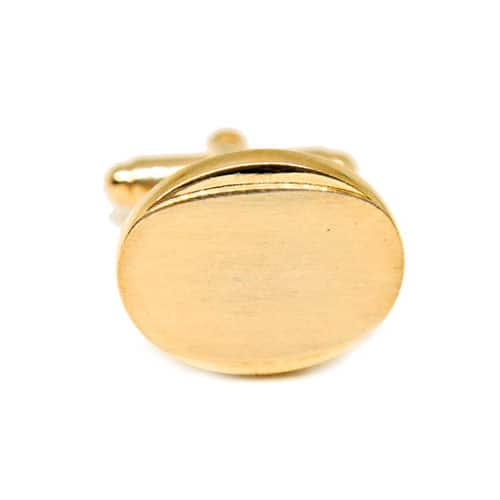 Brushed Gold Oval Cufflinks