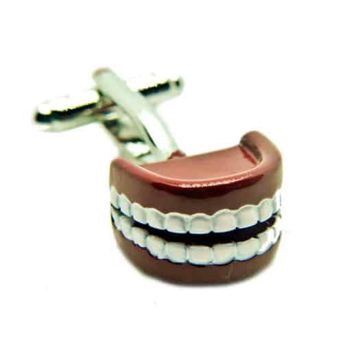 Chattering Teeth Cufflinks