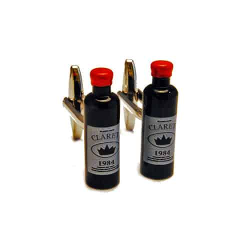Claret Wine Bottle Cufflinks