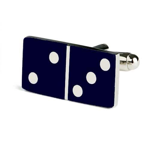 Navy Domino Cufflinks
