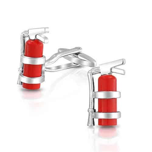 Fire Extinguisher Cufflinks