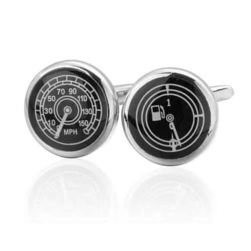 Speedometer and Fuel Gauge Cufflinks