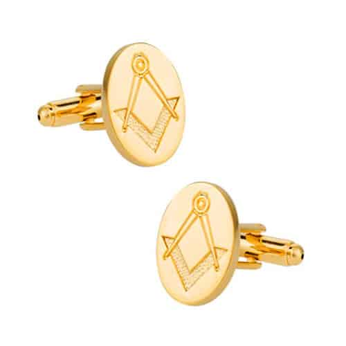 Gold Freemason Cufflinks