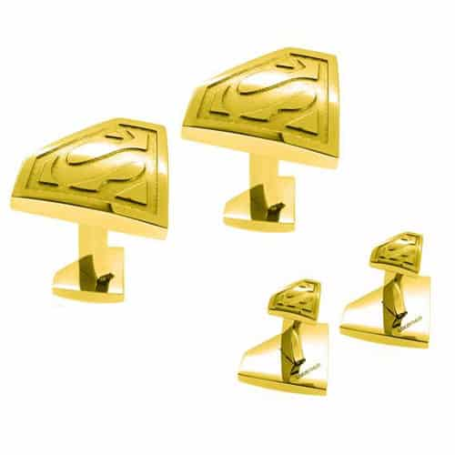 Licensed Gold Superman Cufflinks