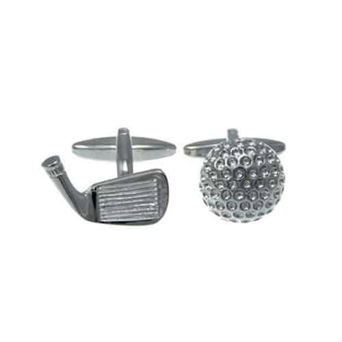 Golf Ball and Club Cufflinks