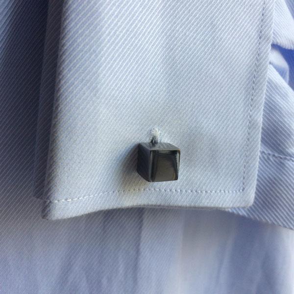 Gunmetal Cube Cufflinks