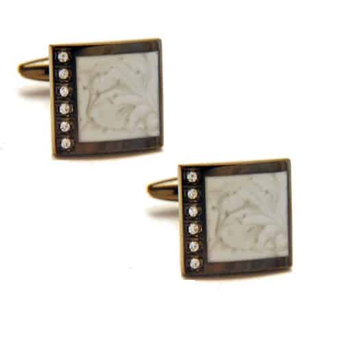 Gunmetal Marble Cufflinks