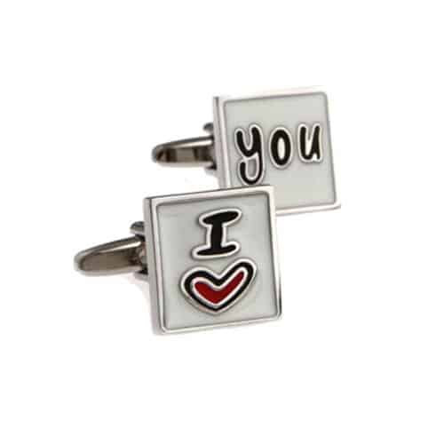 I Love You Cufflinks
