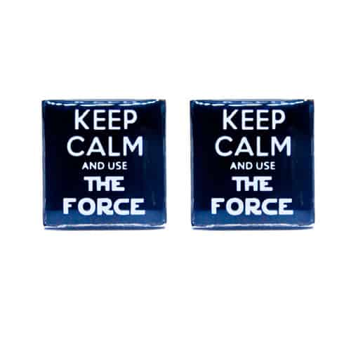 Keep Calm and Use The Force Cufflinks
