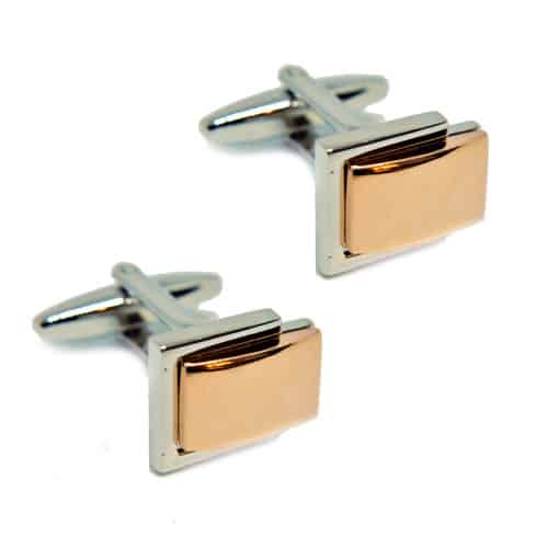 Layered Silver and Gold Cufflinks