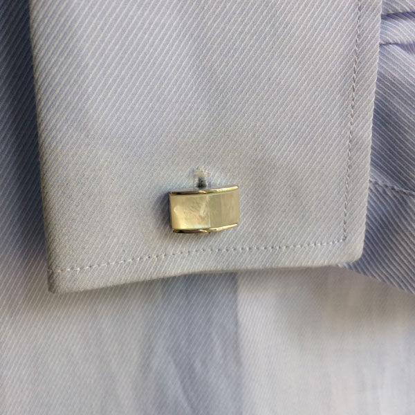 Mother of Pearl Rectangle Cufflinks