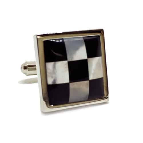 Mother of Pearl - Chessboard Cufflinks