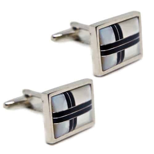 Mother of Pearl - Cream Rectangle Cufflinks