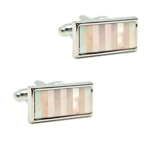 Mother of Pearl - Rectangle Cufflinks