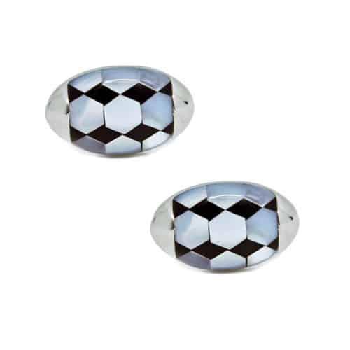 Oval Mother of Pearl Pattern Cufflinks