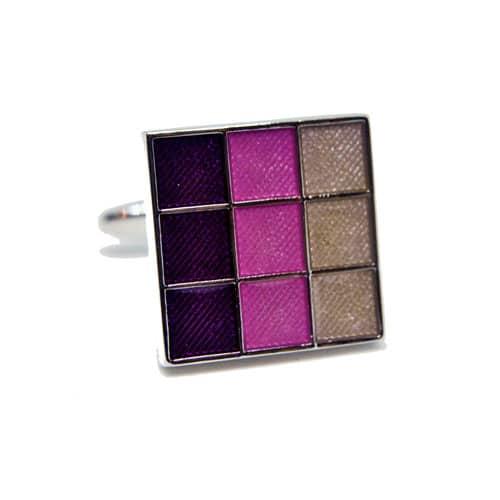 Purple Squares Cufflinks