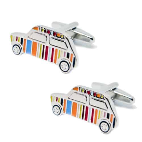 Rainbow Striped Car  Cufflinks