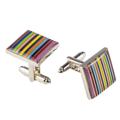 Rainbow Stripes Cufflinks