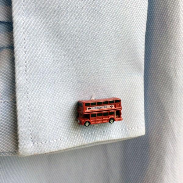 Red London Bus Cufflinks