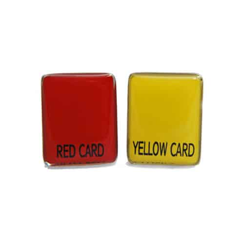 Red/Yellow Soccer Cards Cufflinks