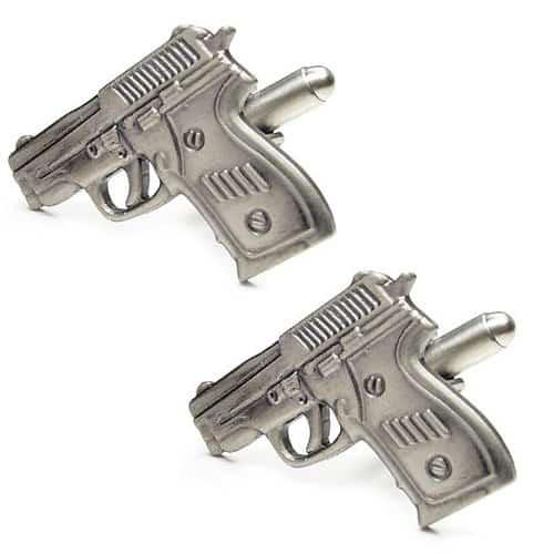 Revolver Gun Cufflinks