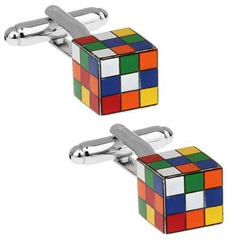 Rubiks Cube 3D Cufflinks