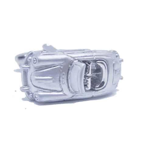 Silver 3D Car Cufflinks