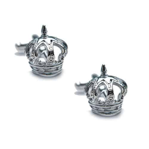 Silver Crown Cufflinks