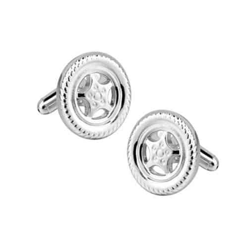 Silver Tyre Cufflinks