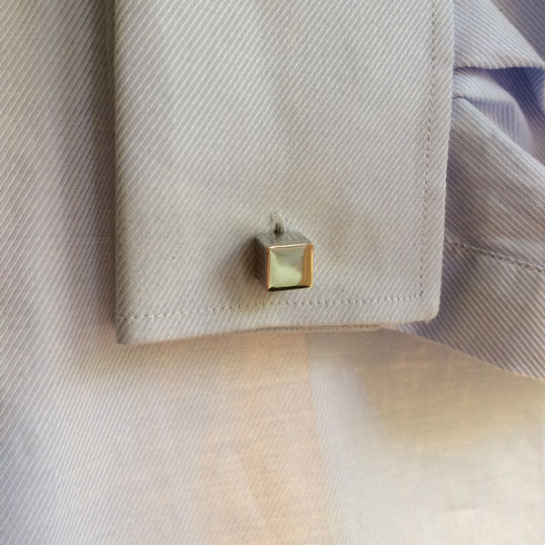 Stainless Steel Cube Cufflinks