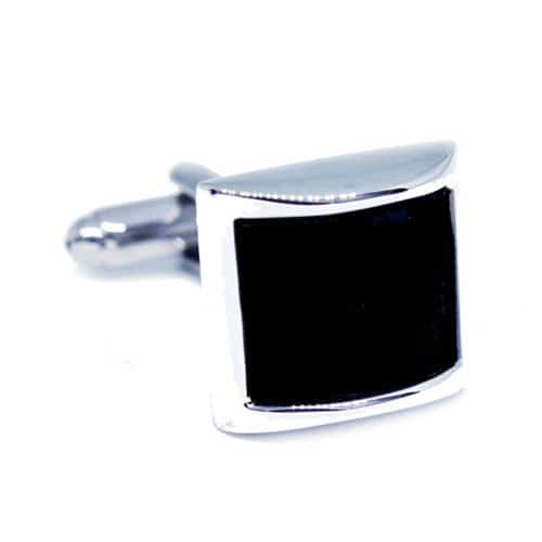 Square Black Cufflinks