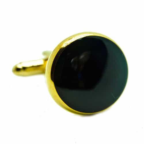 Black Circle Cufflinks