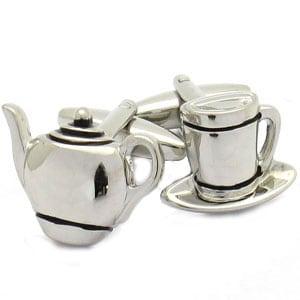 Tea Cup and Tea pot Cufflinks