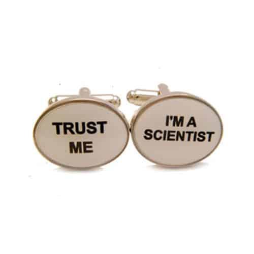 'Trust Me' 'I'm a Scientist' Cufflinks