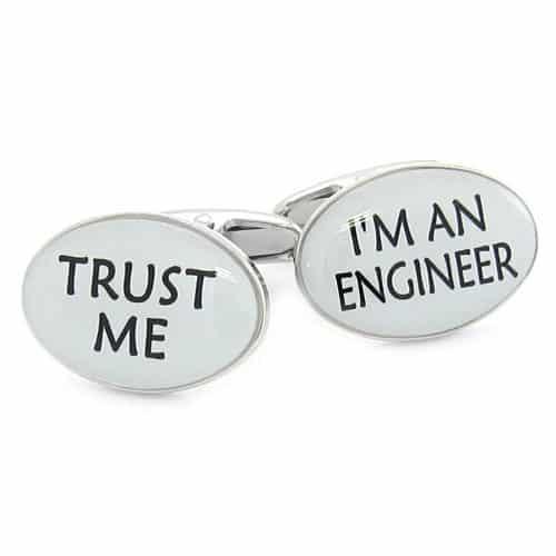 'Trust Me' 'I'm an Engineer' Cufflinks
