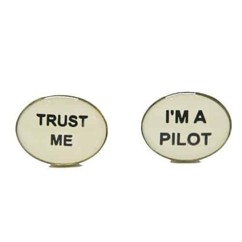 'Trust Me' 'I'm a Pilot' Cufflinks