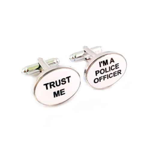 'Trust Me' 'I'm a Police Officer' Cufflinks