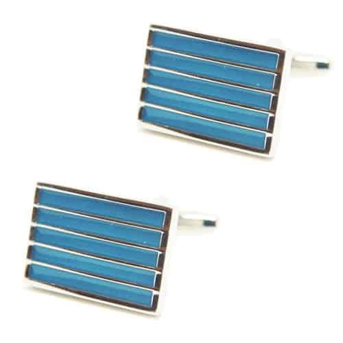 Turquoise Stripes Cufflinks
