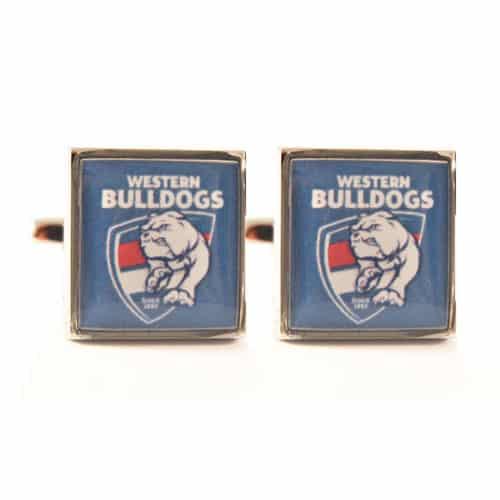 Western Bulldogs Colour Official AFL Cufflinks