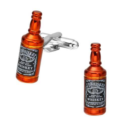 Whiskey Bottle Cufflinks